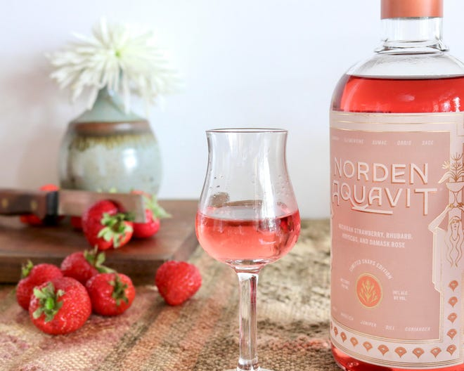 Michigan's Norden Aquavit distiller has released a Pink Aquavit to raise funds for Cancer Awareness Month.