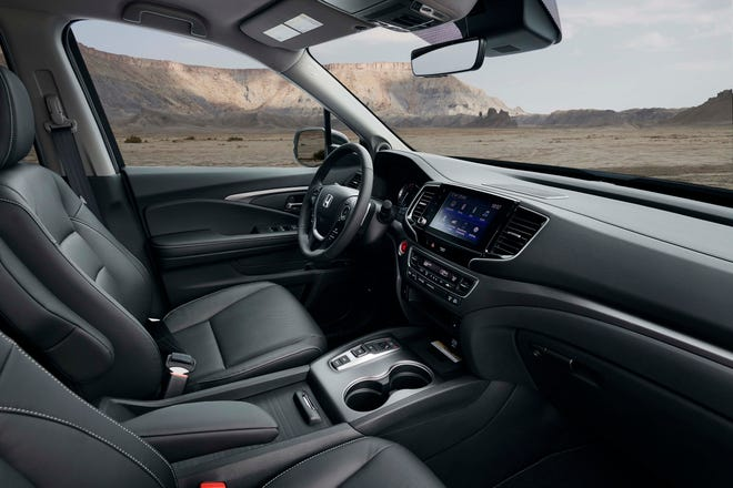 The 2021 Honda Ridgeline interior is the roomiest in class. For the new model year it gains a volume knob to help improve complaints about its infotainment system.