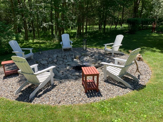 Fall is a good time to tackle outdoor projects like installing a fire pit area.