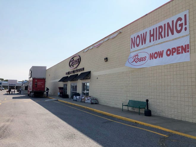 Roses Discount Store opened Sept. 25 in a portion of the former Kmart store in Henderson's Gardenside Shopping, one of three discounters that have moved into that space.