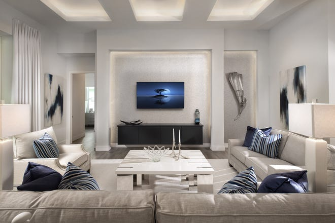 Vogue Interiors' Salvatore Giso, IDS has completed the interior design for Stock Signature Homes' furnished Birchwood III model at the Isles of Collier Preserve.