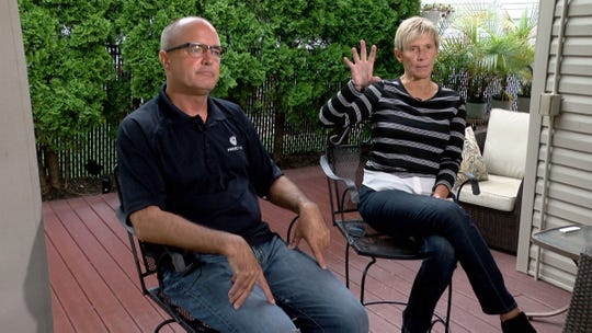 Rich Brown, Project VIC co-founder and retired State Trooper, and Diane Edwards, board member, are shown during an interview in Neptune Township Tuesday, Sept. 29, 2020.  They are experts in online child exploitation and discussed increases in abuse during the COVID pandemic and how technology can be used to combat it.