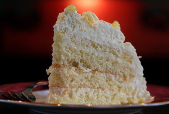Lemon Mascarpone Layer Cake, photographed Wednesday, Aug. 26, 2020. (Hillary Levin/St. Louis Post-Dispatch/TNS)