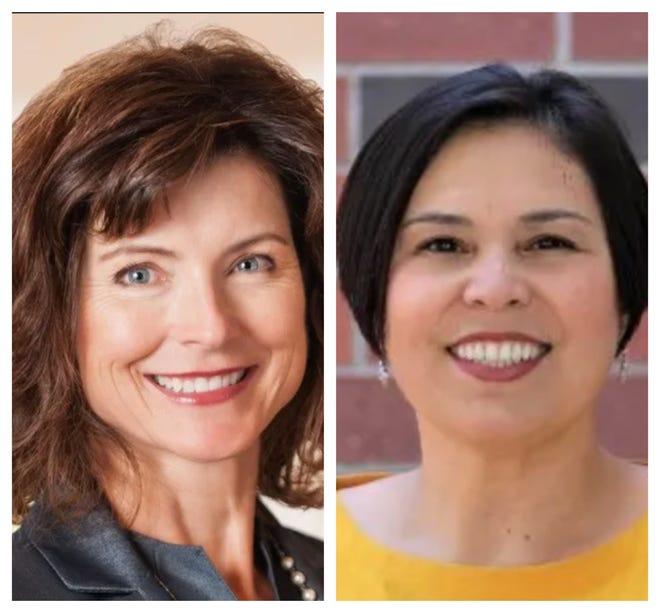 State Sen. Heidi Seevers-Gansert, left, and Wendy Jauregui-Jackins, right.
