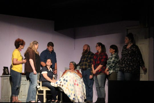 "A scene from ""The Quilt"" at Stained Glass Theatre."