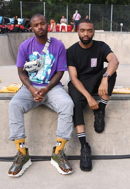 """Salehe Bembury (left), the Vice President of Sneakers &amp; Mens Footwear at Versace, shared a <a href=""""https://www.instagram.com/p/CF0heegDSBM/"""">video on Instagram</a> of an interaction he had with police on Oct. 1, 2020. &quot;I'm in Beverly Hills right now and I'm getting (expletive) searched for shopping at the store I work for and just being Black,&quot; he said.&nbsp;Bembury was stopped and searched for allegedly jaywalking, according to body camera footage from the <a href=""""https://ktla.com/news/local-news/versace-shoe-designer-says-he-was-racially-profiled-in-beverly-hills-video-shows-him-frisked-searched-police-say-its-for-jaywalking/"""">Beverly Hills Police Department.</a>"""