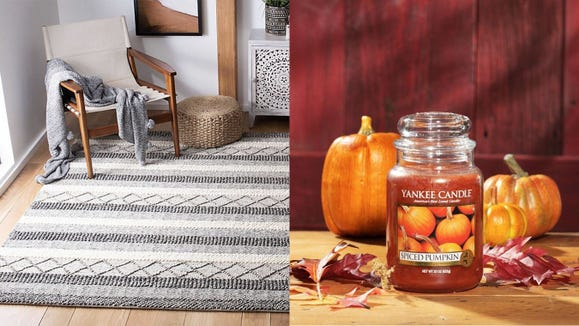 Add some cheerful accents to your home this fall.