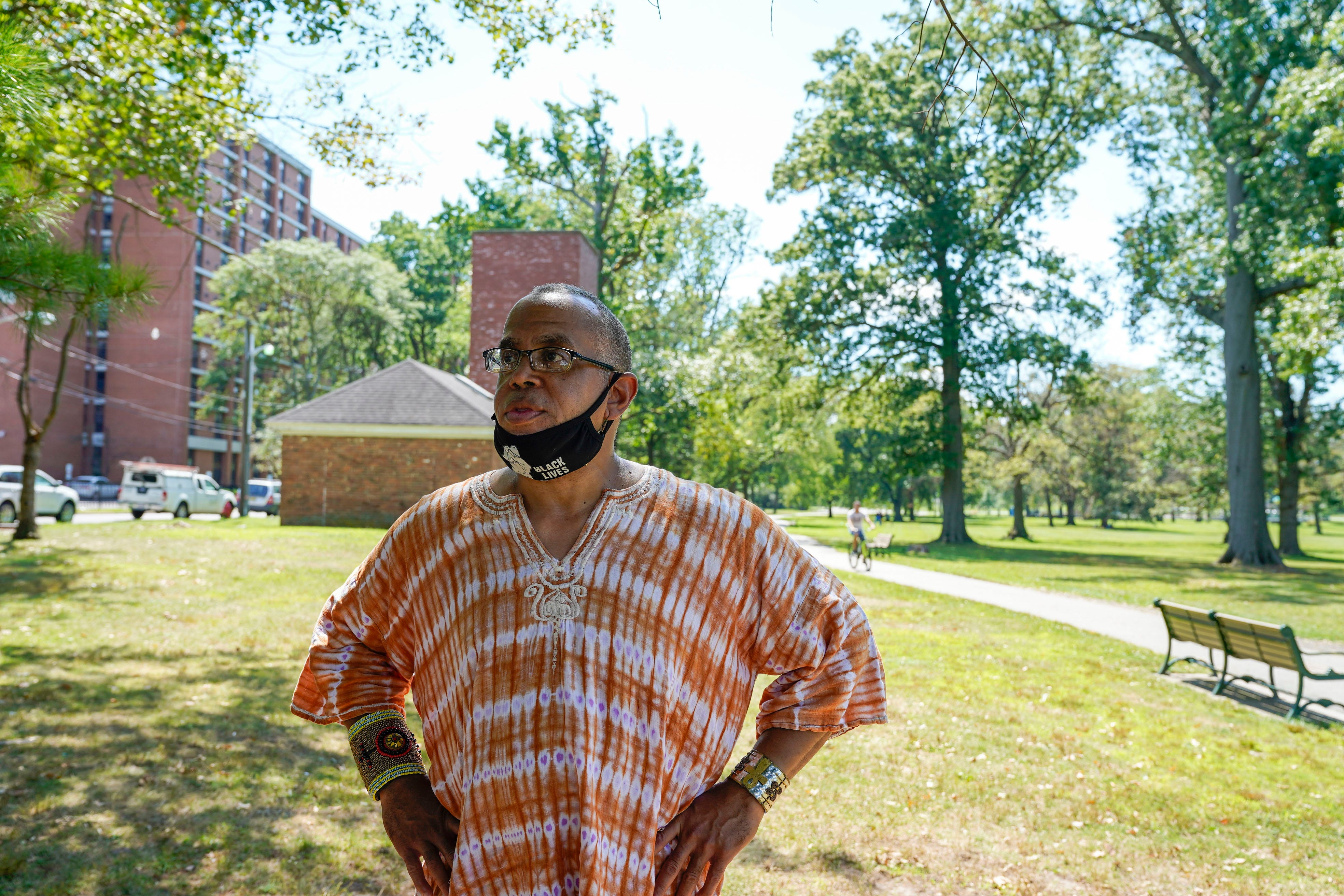 Zayid Muhammad, a community activist, talks about the battle communities of color have faced during the COVID-19 pandemic, with high case counts and deaths in Newark, N.J., the most populous city in the state and the heart of Essex county.