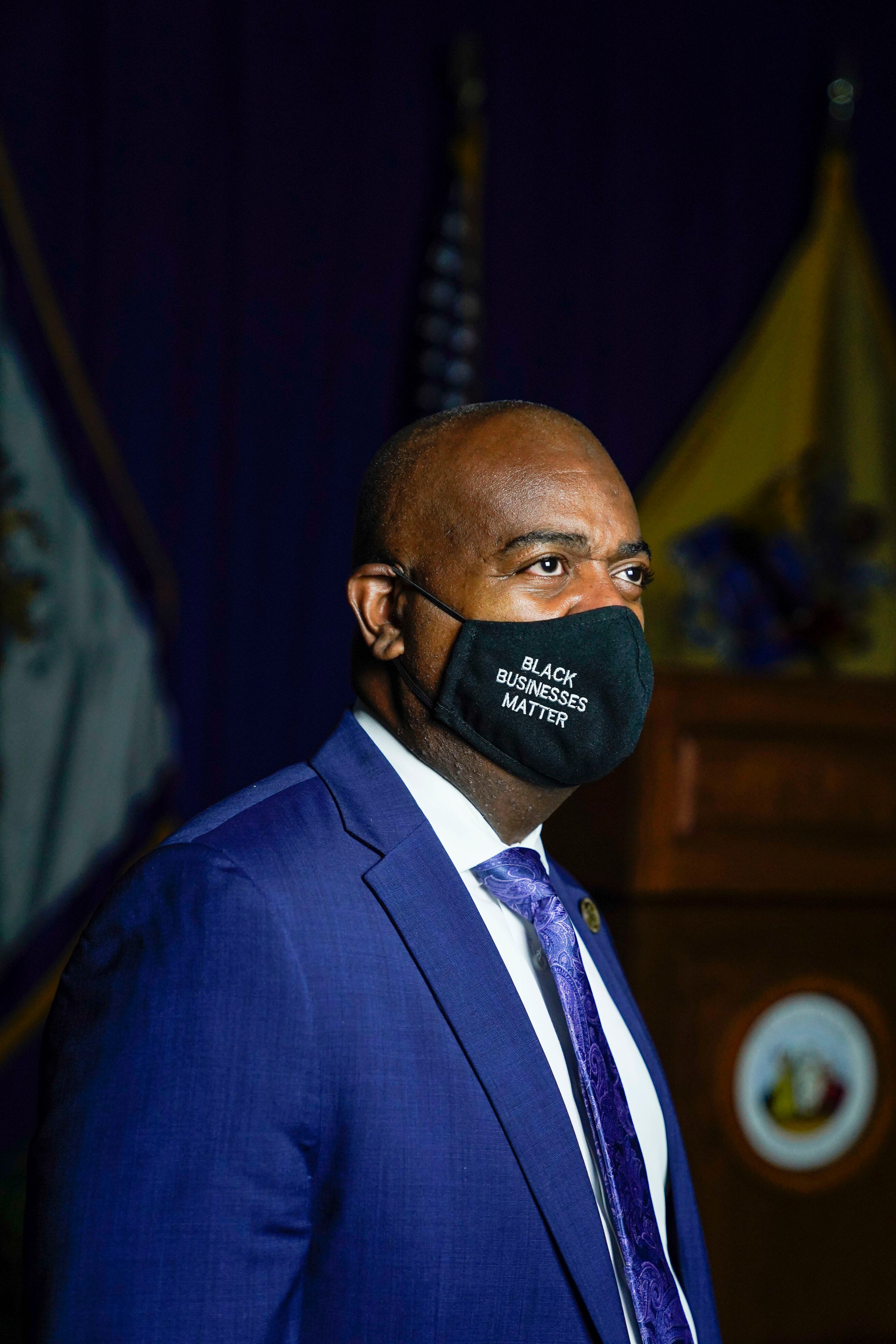 """Newark Mayor Ras J. Baraka says the challenges of dealing with COVID -19 in his city are daunting. """"I'm still on it. I'm like the mean father right now. I have to wear that until we feel completely comfortable moving forward."""""""