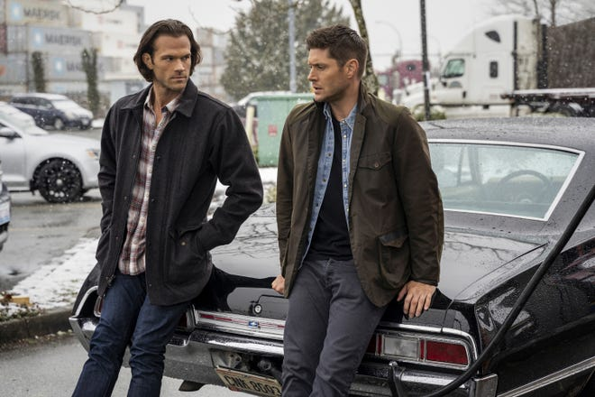 """Jared Padalecki (left) and Jensen Ackles are back for the final round of episodes in the 15th and final season of """"Supernatural."""""""
