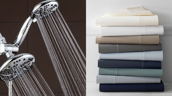 Add a touch of luxury to your bedroom and bathroom without spending a fortune.