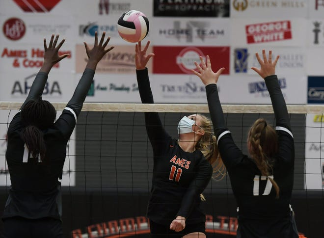 Alexa Kopaska has emerged as a dominant force at middle hitter for the Ames volleyball team in program. Kopaska has also sharpened her all-around skills. She played some back row during the Little Cyclones' loss to No. 5 (5A) Ankeny Centennial Tuesday in Ames.