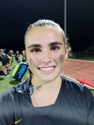 Moorestown senior Olivia Dunne is a defender on the 2020 Quakers field hockey team