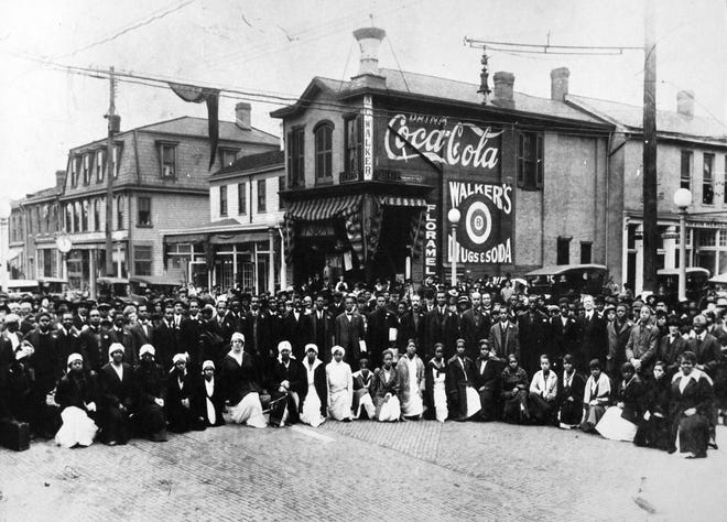 Historic photographs from Sewickley, like this circa-World War I photo, are part of a self-guided and digital Black History Tour coordinated by the Sweetwater Center for the Arts.