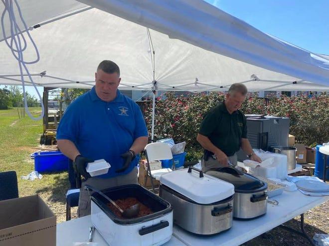 Deputies serving homemade chili
