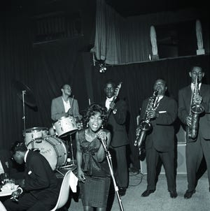 Benny Sharp Band with Jessie at Gaslight Square, 1964. State Historical Society of Missouri—St. Louis