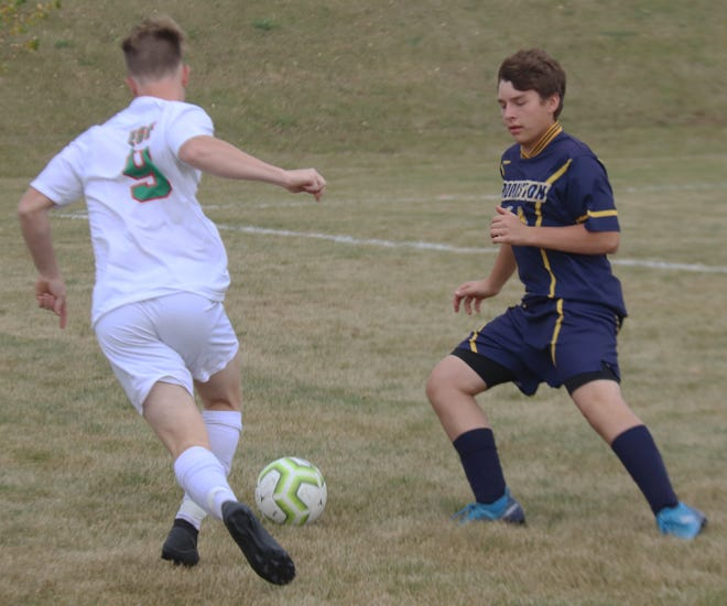 Evan Christensen and the Crookston boys' soccer team will play at East Grand Forks in the Section 8A playoffs Monday.