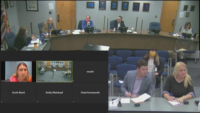Lake County School Board members discussed legislative priorities with lobbyists Monday. [Lake County Schools/Youtube]