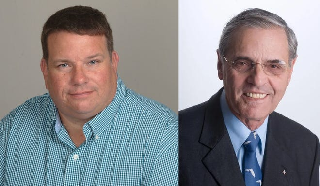 William Sell and Stephen Bacon are candidates for Seat 1 on the DeBary City Council.