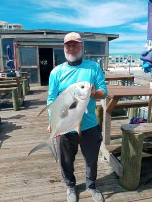 Pep Sedlacek caught this Permit from Crabby Joe's Sunglow Fishing Pier.