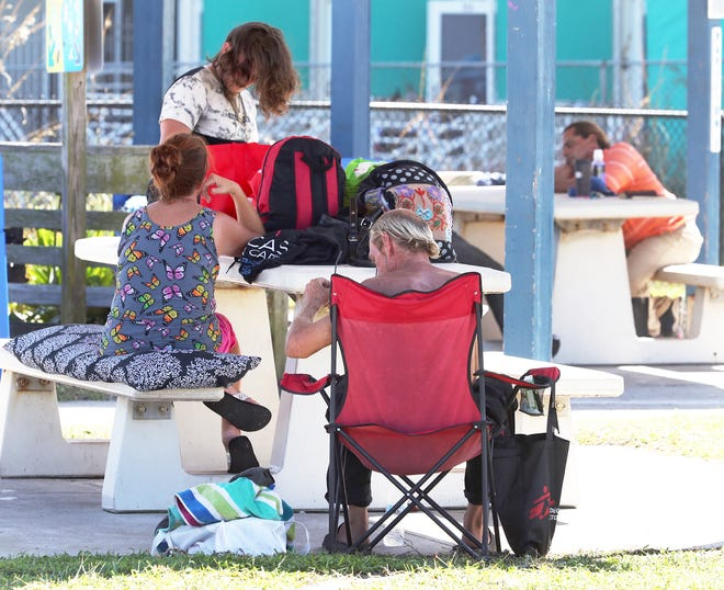People who appear to be homeless have been claiming spots around Sun Splash Park over the past few weeks. Those who want to continue spending time in the county's oceanfront park will have to start abiding by rules recently posted on new signs.