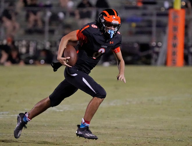 Logan Garcia completed 18 of 30 passes for 273 yards and a touchdown, but Spruce Creek lost 28-24 in the final minute to Sanford Seminole.