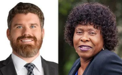 Daniel Hilbert (L) and Joan Anthony are competing for a circuit judge seat in the 7th Circuit.