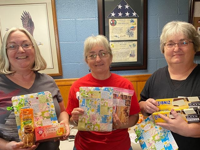 Sisters Vickley Henley, Bonnie Phillippi and Patti Phillippi are among the leaders of the Yellow Ribbon Girls.