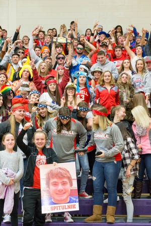 The annual Barkley Basketball Showcase always features packed student sections, like this one in 2017. This year's event has been canceled due to COVID-19.