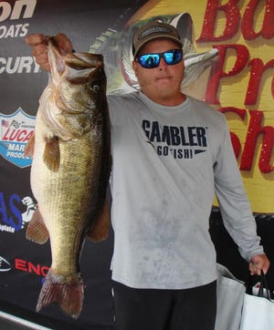 Levi Brown of Plant City had a total weight of 44.87 pounds and second big bass weighing 9.24 pounds to win the American Bass Anglers Bass Pro Shops Open Series two-day tournament on the Kissimmee Chain out of Lake Toho Oct. 3-4.