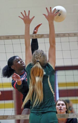 Victory Christian right-side hitter Damyah Joyner led the Storm over George Jenkins in the championship match of the 2020 Oktoberfest Volleyball Showcase.