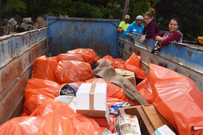 Bags of trash were taken out of the Sacramento River in 2017 as part of the River Exchange's cleanup effort.