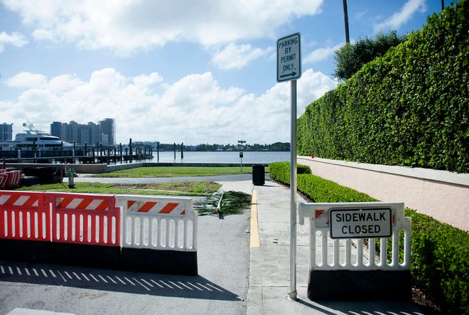 The Lake Trail is now closed from Seminole Avenue to Everglade Avenue so a contractor can install drainage and raise part of the trail. The closure is expected to last for approximately six weeks. (MEGHAN MCCARTHY/PALM BEACH DAILY NEWS)