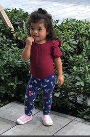Eileen Tomas-Perez, 2, was accidentally struck by a car and killed at her second birthday party on Tuesday, Oct. 6, 2020 in West Palm Beach. (FAMILY PHOTO)