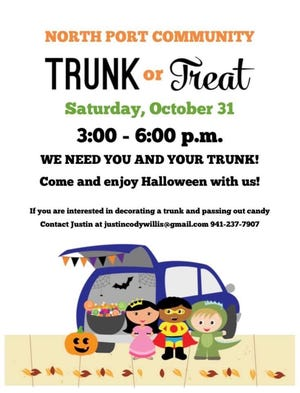 A North Port Community Trunk or Treat is being planned for Oct. 31 to replace North Port's annual Trick or Treat at City Hall.
