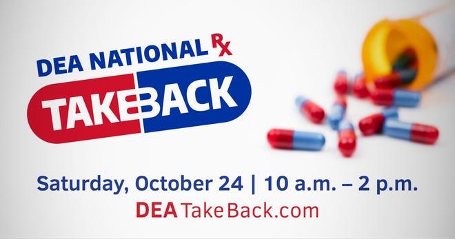 National Prescription Drug Take Back Day is Oct. 24, 2020.