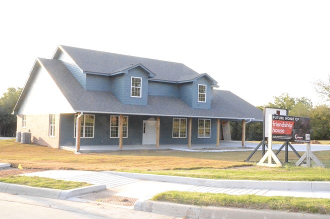 In a partnership between the Absentee Shawnee Housing Authority and Community Renewal, a Friendship House — the second one of its kind in the city — is under construction at the southeast corner of Main Street and Bryan Avenue in the Rolling Hills South Addition on Absentee land.