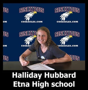 Halliday Hubbard signs with College of the Siskyious, where she'll play basketball and softball.