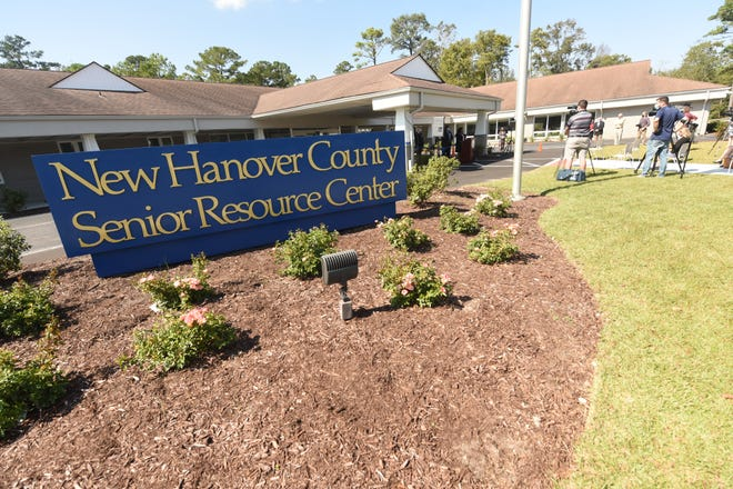 The New Hanover County Senior Resource Center held a ribbon cutting ceremony Wednesday Oct. 7, 2020 in Wilmington, N.C. The ceremony marked the completion of renovations that were started in January and completed 3 months early giving the Center and entirely new updated look inside. [KEN BLEVINS/STARNEWS]