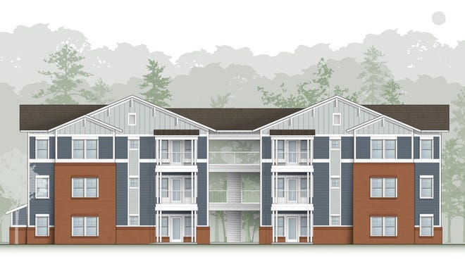 An artist rendering shows units at the planned Carolina Avenue Apartment.