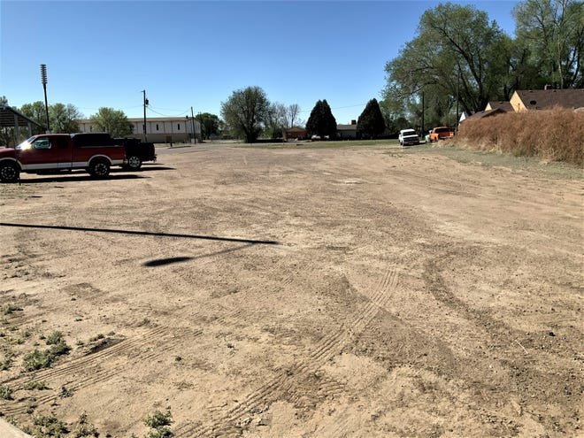 With bond funds, this Avondale Elementary parking lot would be paved, making it compliant with Americans with Disabilities Act.