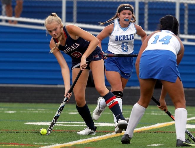 Thomas Worthington's Mollie Estepp (left) was leading the field hockey team with 17 goals and nine assists through 13 games. The four-year starter is looking to cap her career with a fourth consecutive trip to the state tournament and a second title.
