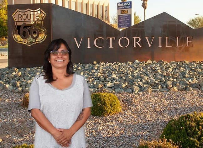"""Victorville native and longtime city employee Elizabeth """"Liz"""" Becerra is making a run for one of three City Council seats in the November election."""