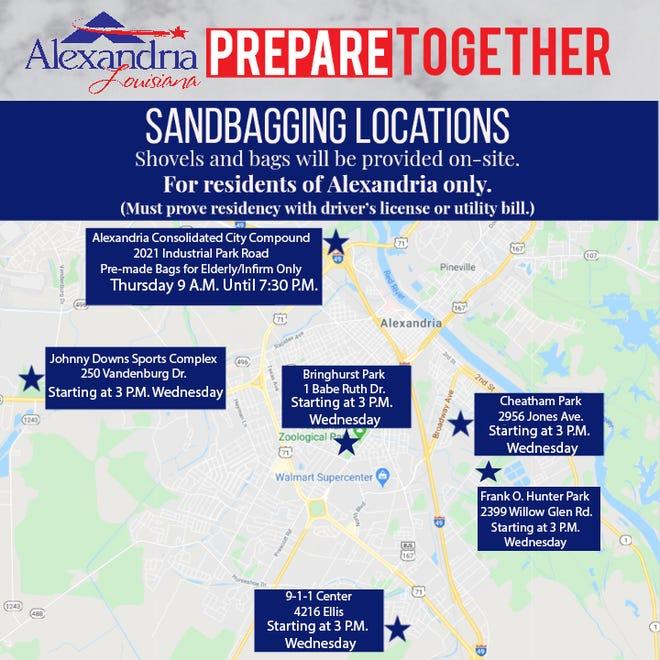 Sandbag location sites.