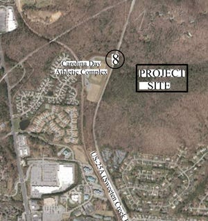 A Georgia development company plans to build 852 apartments and single family units on a site off Sweeten Creek Road south of the Blue Ridge Parkway. The site is directly across Sweeten Creek Road from the Carolina Day School athletic complex.