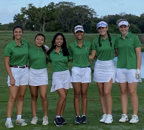 The Viera girls golf team shot a 323 to win the Cape Coast Conference championship on Tuesday, Oct. 6 at Indian River Preserve Golf Club.
