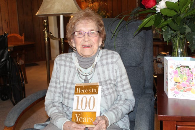 Clarabelle Garn of Gibsonburg turned 100 Monday. Born near Swanton, Garn has lived most of her life in Sandusky County. She celebrated her birthday with family members at Scarpetta's in Fremont.