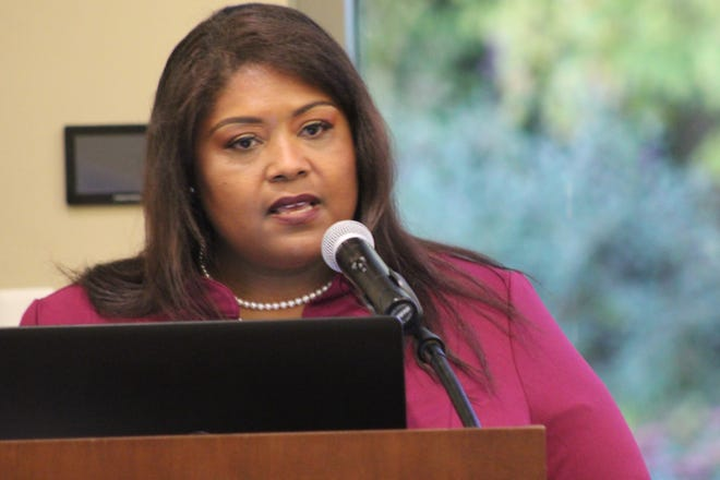 Chari Mullen has been appointed to be Fremont's first diversity and inclusion director. Mullen spoke Tuesday evening at Terra State Community College's Neeley Center about her plans for the new position.