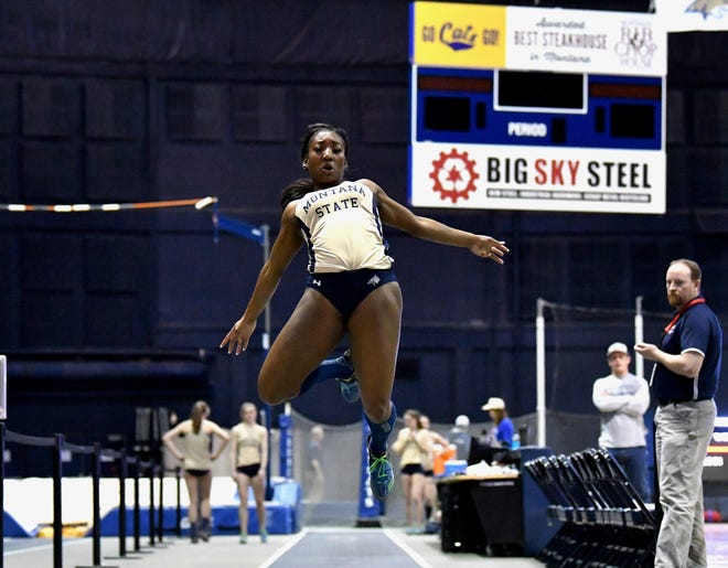 Despite having only participated in prep track and field for one season, former Great Falls High standout Twila Reovan, shown at an indoor meet at Montana State, has seen her collegiate career really get off the ground.