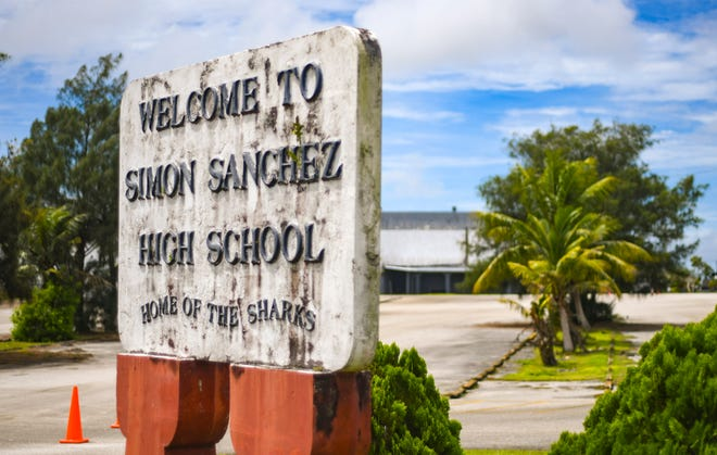 Simon A. Sanchez High School in Yigo is shown Oct. 7. The Guam Department of Education said it isn't clear yet why 25% of the students at the high school are failing to report.